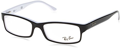 Ray-Ban RX5114 Eyeglasses Black/White - White Black And Bans Ray