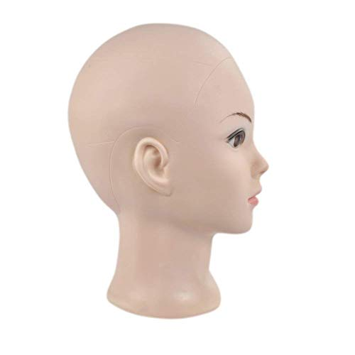 Professional Cosmetology Bald Mannequin Head Manikin Model Doll Head for Make Up, Making Wigs, Wigs,Glasses,Hair with Free Clamp by Ba Sha (Image #1)