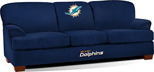 Imperial Officially Licensed NFL Furniture: First Team Microfiber Sofa/Couch, Miami -