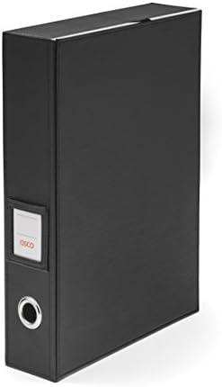 Osco BKPUBF1 Aktenkasten aus Kunstleder, schwarz