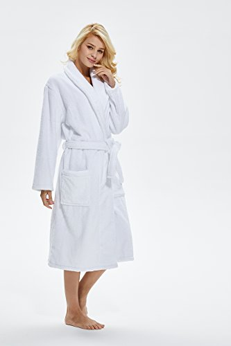 Beryris Luxury Bathrobe for Women - Women s Terry Cloth Robe in Bamboo  Viscose 69314a0a1