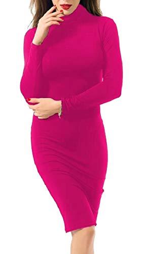 1 Sleeve Clubwear Midi Womens Neck O Bodycon AU Long Solid Dress Sodossny qOAPtRC