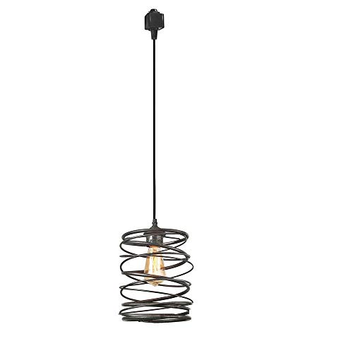 KIVEN 1-Light Halo Track Mounted Pendants,Edison Bulb Include - Cord Mounted Pendant Rail