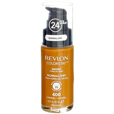 Revlon ColorStay for Normal/Dry Skin Makeup, Caramel [400] 1 oz (Pack of 3)