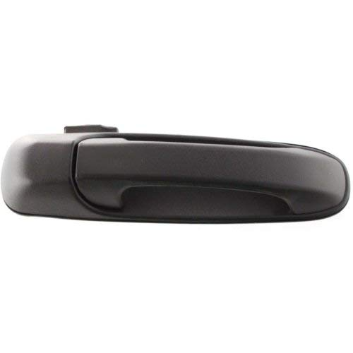 Exterior Front Door Handle Compatible with JEEP GRAND CHEROKEE 1999-2004 / LIBERTY 2002-2007 Right Textured Black Plastic (2004 Jeep Grand Cherokee Rocky Mountain Edition)