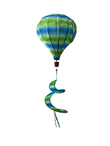 Green & Blue Deluxe Hot Air Balloon Wind Twister Everyday 54