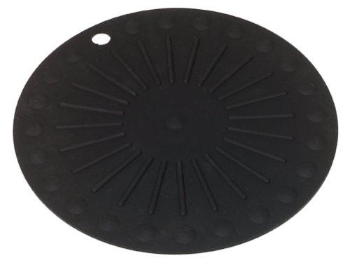 Round HotSpot Silicone Trivet, Black