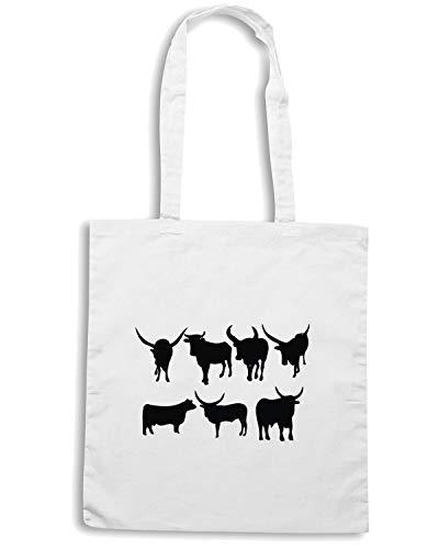 Borsa Wes0628 Horn Long Speed Shirt Silhouette Bianca Shopper Cattle Czv1f