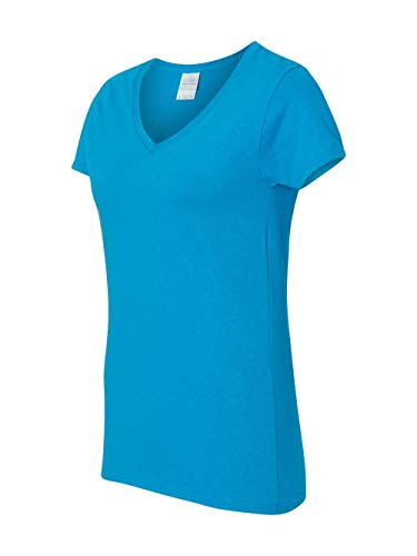 Gildan Heavy CottonTM Ladies' 5.3 oz. V-Neck T-Shirt, 2XL, -