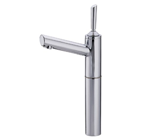 Whitehaus 3-3344-POCH Centurion 5 3/4-Inch Single Hole Stick Handle Elevated Lavatory Faucet with 7-Inch Extension and Long Spout, Polished Chrome