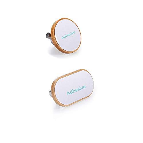 BasicForm Ganchos Adhesivos de Bambú & Acero Inoxidable Ultra Fuerte Adhesivo para Baño y Cocina (1-Gancho + 2-Gancho): Amazon.es: Bricolaje y herramientas