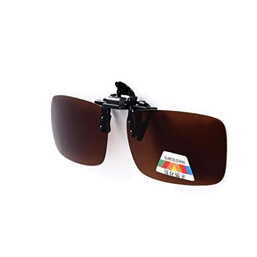 bf0399acbd4 Sumolux Fashion Polarized Clip-on Flip up Metal Clip Sunglasses Lenses  Glasses Unbreakable Driving Fishing