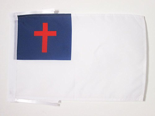 AZ FLAG Christian Religion Flag 18'' x 12'' Cords - Christianity Small Flags 30 x 45cm - Banner 18x12 in