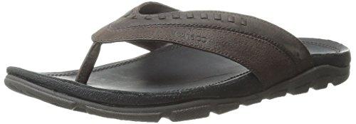 Chaco Mens Leather Flip Sandals - Chaco Finn Flip Sandal, Chocolate Tortoise, 8 M US