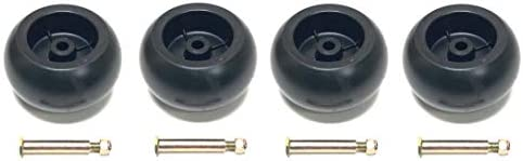 4 Pack Mower Deck Wheels with Bolts 174873 133957 193406 532174873