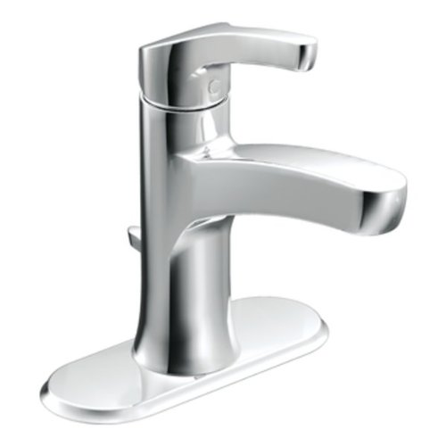 Moen L84733 Single Handle Single Hole Bathroom Faucet from the Danika Collection, Chrome
