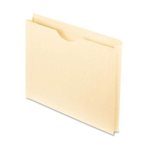 Pendaflex 22150 Reinforced Top Tab File Jacket, 1 1/2 Inch Expansion, Letter, Manila, 50/Box