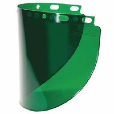 Face Shield Window - Fibre-Metal 280-4178DGNBP High Performance Wide View Faceshield Windows, Dark Green, Wide View, 16 1/2
