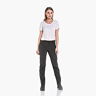 Schöffel Pants Ascona Zip Off, leichte und komfortable Damen Hose mit optimaler Passform, flexible Outdoor Hose für Frauen Damen, asphalt, 40 10