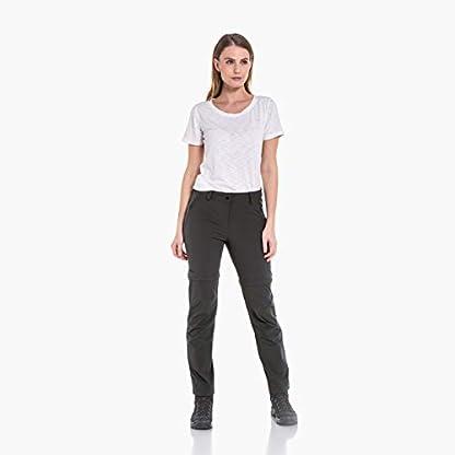 Schöffel Pants Ascona Zip Off, leichte und komfortable Damen Hose mit optimaler Passform, flexible Outdoor Hose für Frauen Damen, asphalt, 40 1