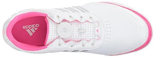 adidas Womens W Adistar Lite Boa Golf Shoe Ftwr White/Silver Met./Shock Pink S BRVIQG