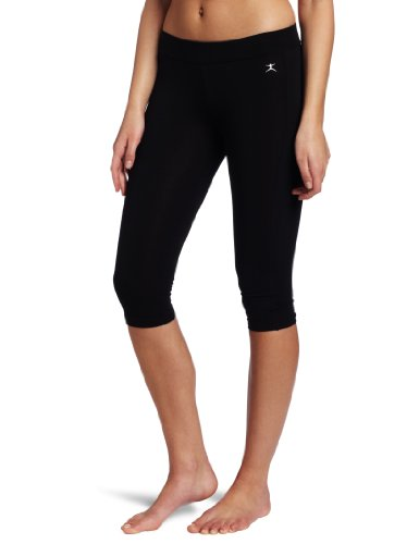 (Danskin Women's Capri Legging,Black,Large)