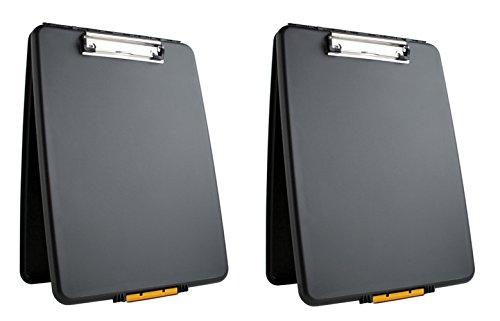 Dexas 1517-912PK Slimcase Storage Clipboard, Set of Two, Black, 2 Piece