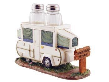 Salt/Pepper amp Napkin Holder Set Pop Up Camper RV 8inch Kitchen Decor