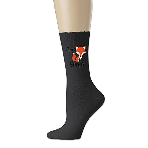 Mens Full Cushion Tab Socks (GREe Zero Fox Given Unisex Cotton Socks Funny Crew Dress Socks Black)
