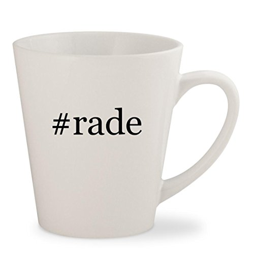 #rade - White Hashtag 12oz Ceramic Latte Mug Cup - Domi Three Light