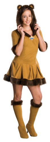 Tween Wizard Of Oz Cowardly Lion Costume, Orange/Brown, Small ()