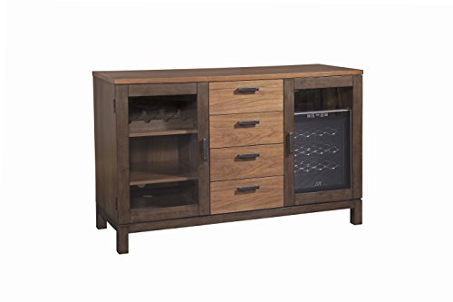 Furniture At Home Food & Wine Estate Collection Server, Dark Chocolate/Walnut (Furniture Cooler Wine)