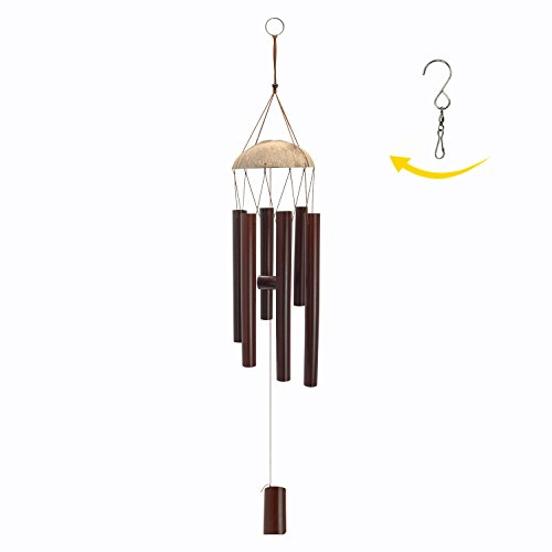 Astarin Bamboo Wooden Wind Chimes Outdoor - 28