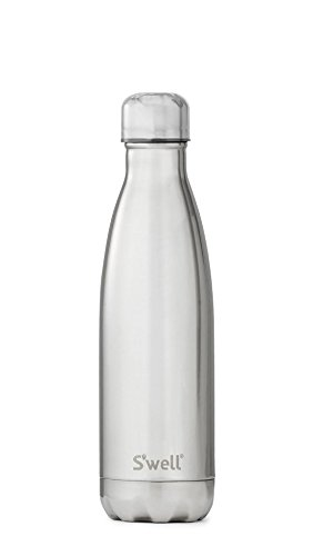 S'well Vacuum Insulated Stainless Steel Water Bottle, Double Wall, 17 oz, White Gold by S'well