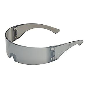 grinderPUNCH Silver Mirror Futuristic Shield Sunglasses Deal Glasses