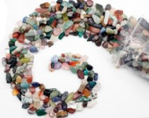 75Grams of Bead Chips, Various/Assorted Sizes, Colors Shapes, (Labradorite Chip Beads)