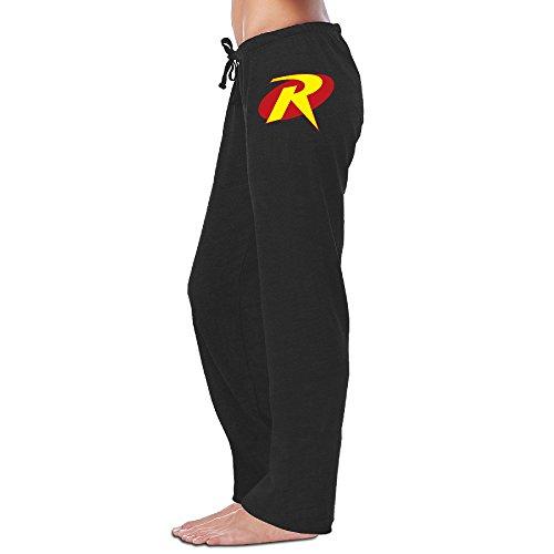 LowkeyNr1 Women's Custom Robin Symbol Sweatpants Black (Robin Custome)