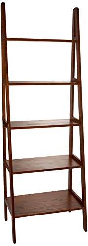 Casual Home 176-54 5-Shelf Ladder Bookcase, Warm Brown (Fireplace Furniture To Next)