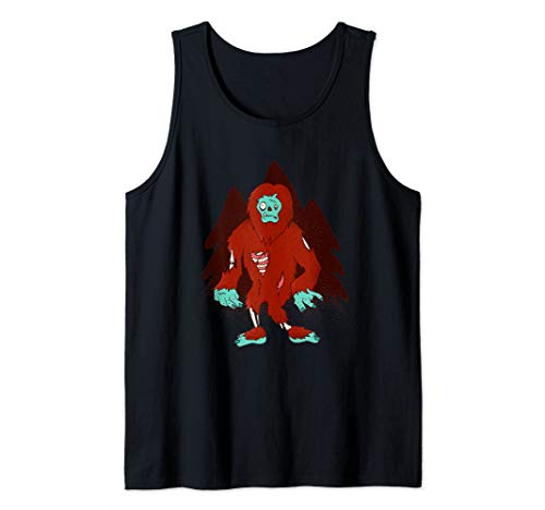 (Zombie Bigfoot - Halloween Scary Outfit Idea  Tank)
