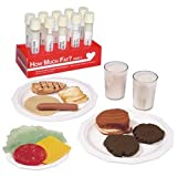 Nasco How Much Fat? Test Tube Display and Life/form Food Replica Set - Nutrition Teaching Aids - WA19652