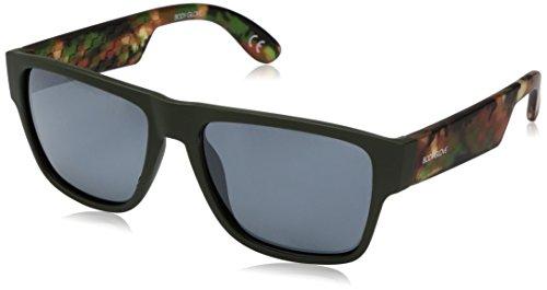 Body Glove Shrop Polarized Wayfarer Sunglasses, Rubberized Metallic Green, 55 - Sunglasses Polarized Body Glove
