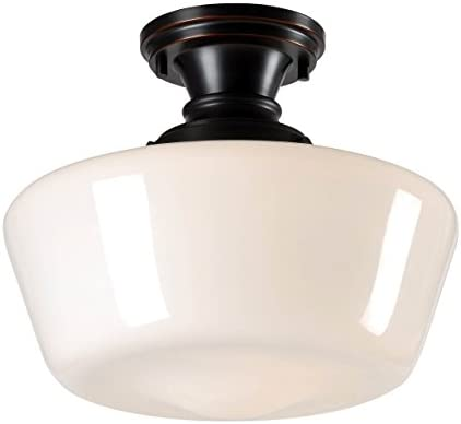 Kenroy Home 93661ORB Cambridge 1-Light Pendant, Blackened Oil Rubbed Bronze