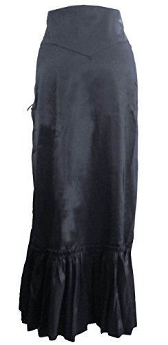 Noir Gothic Burgundy Long Victorian Classique Purple Corset Steampunk Ruched 28 Black Skirt 8 DangerousFX Gothic X0qOOw
