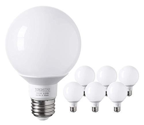TORCHSTAR G25 Globe led Bulb, Vanity Light, 5W (40W Eqv.), UL-Listed, Warm -