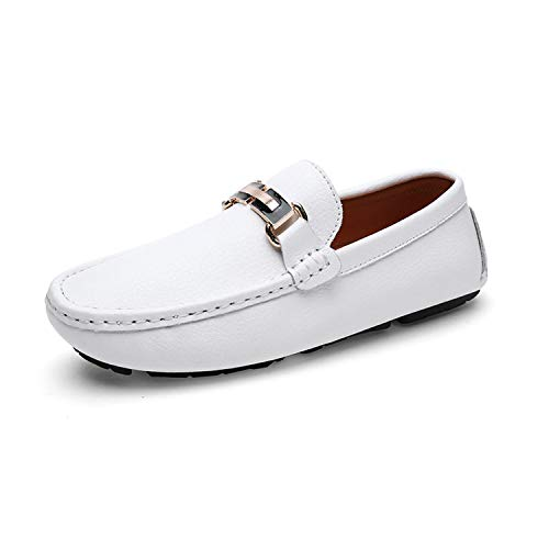 jimwili Fashion Brand Men Shoes Luxury Men Pu Leather Shoes Casual Male Quality Flats Slip On Loafers Plus Size 38~47,White,8