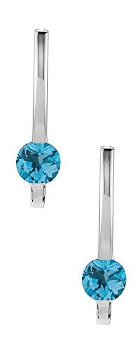 Amazon #DealOfTheDay: Silver 1.10 Carat Genuine Blue Topaz Drop Style Earrings