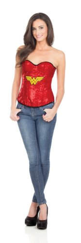 Adult Corset Top with Logo Sequined Wonder Woman,
