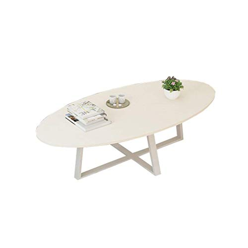 Grljd Fold Away Table Folding Table Balcony Coffee Table, Dining Table Oval Wooden Board Metal Living Room Dining Room Bedroom Coffee Table, Multi-Color Optional Portable Camping Table ()