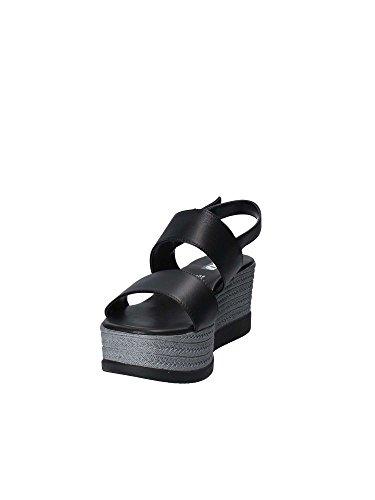 Femmes GRACE Sandales SHOES 92201 Noir compensées qpFvAYw
