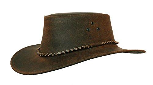 KakaduTraders Australia Kakadu Echuca Leather Hat, 2nd Choice - Kakadu Leather Hat